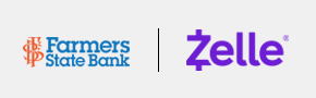 Bank and Zelle Logos